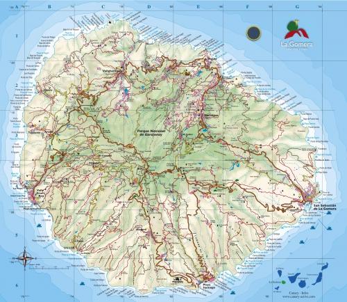 Карта острова Ла Гомера