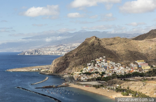 Las Teresitas beach on the Tenerife island
