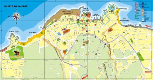 Мапа Пуерто-де-ла-Крус