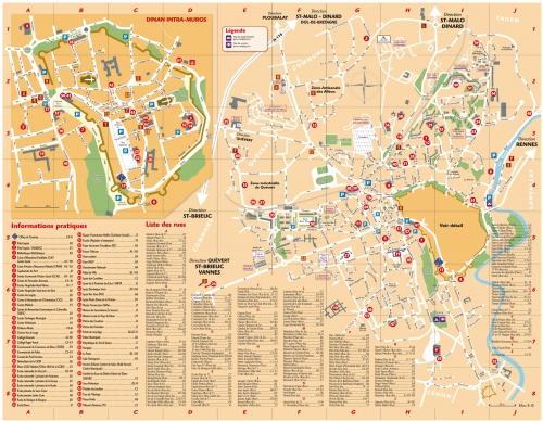 Map of Dinan