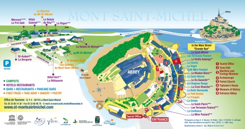 Map of Mont Saint Michel