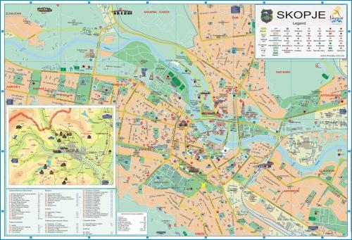 Карта Скопье