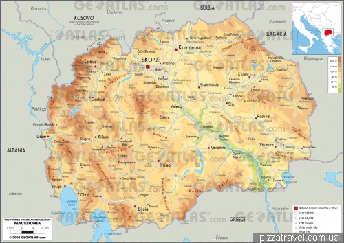 Карта Македонії