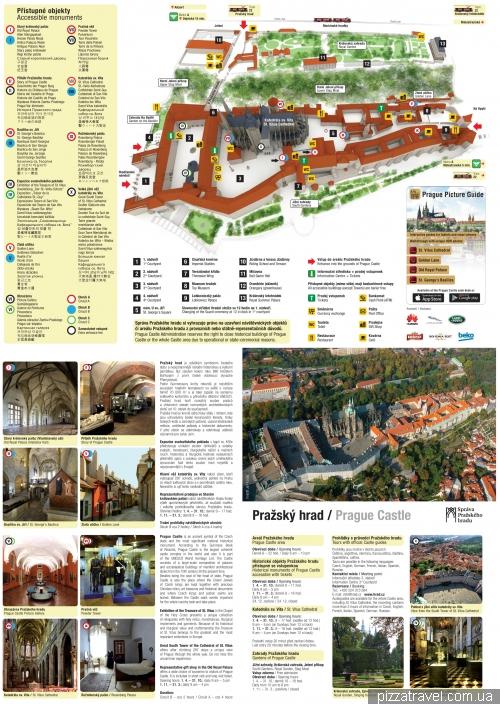 Карта Пражского града