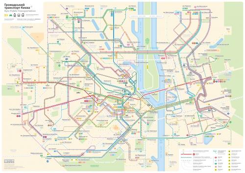 Схема городского транспорта в Киеве