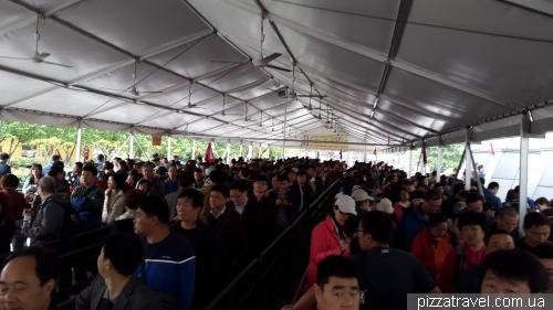 Очередь на канатную дорогу горы Тяньмэнь