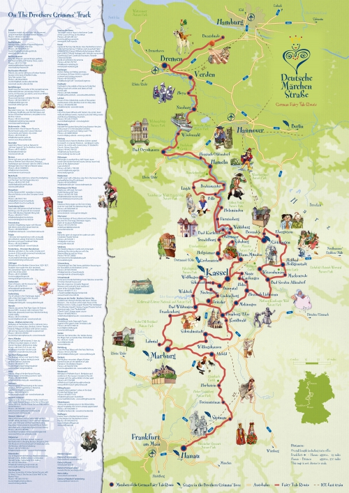 Map of German Fairy Tale Route