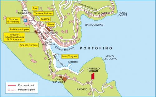 The road to the castle in Portofino
