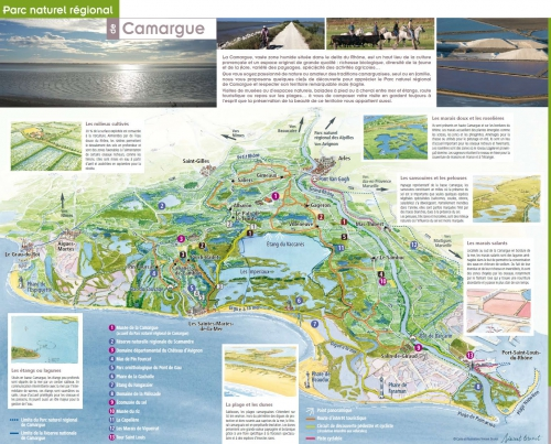 Map of the Camargue National Park