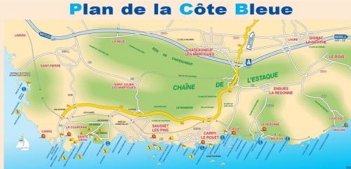 Blue coast near Marseille