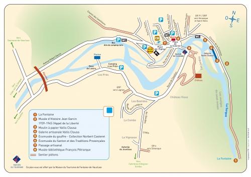 Фонтан Воклюз, мапа