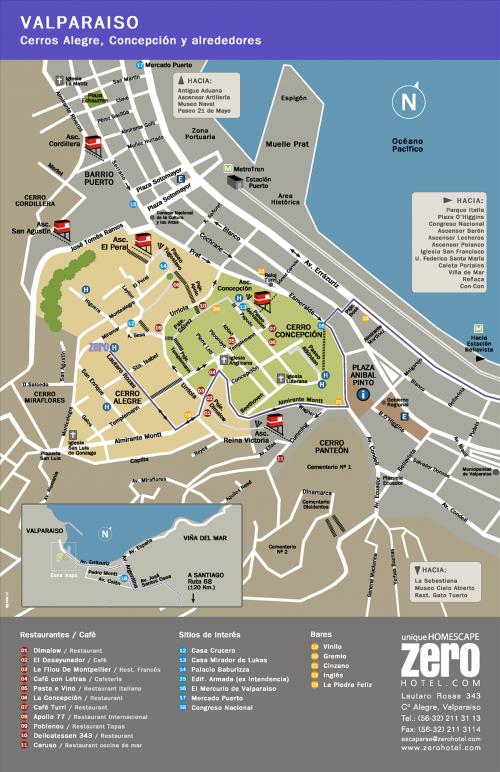 Карта центральной части Вальпараисо