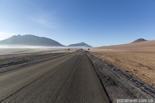 Дорога к озеру Салар-де-Тара