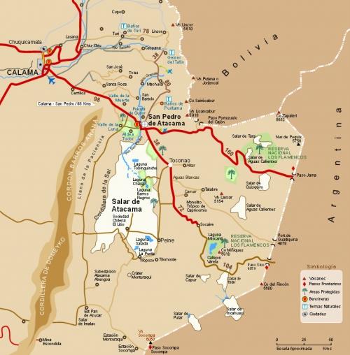 Map of the Atacama Desert