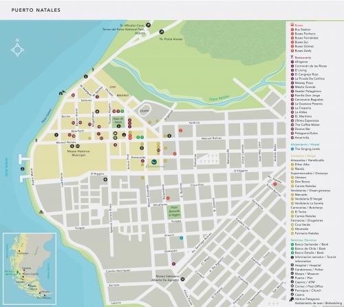 Карта Пуэрто-Наталеса