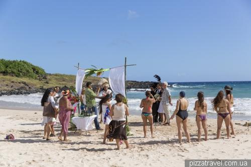 Wedding on the Anakena beach