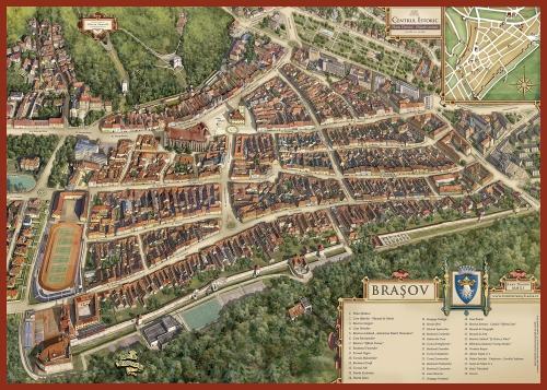 Карта Брашова