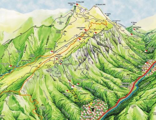 Карта національного парку Бучеджи