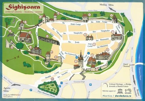 Map of Sighisoara