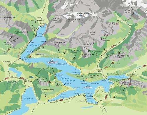 Карта озера Люцерн