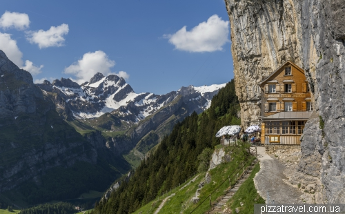 Ebenalp mountain and Aescher-Wildkirchli guest house