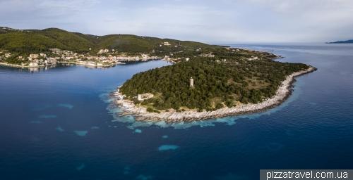 Fiscardo Bay and the Venetian Lighthouse