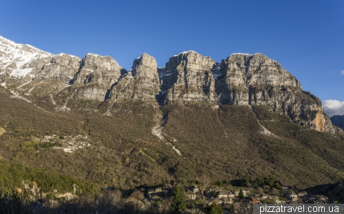View of the Papingo village and the Vikos-Aoos park