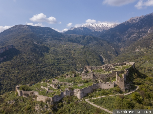 Ghost town and Mystra Fortress