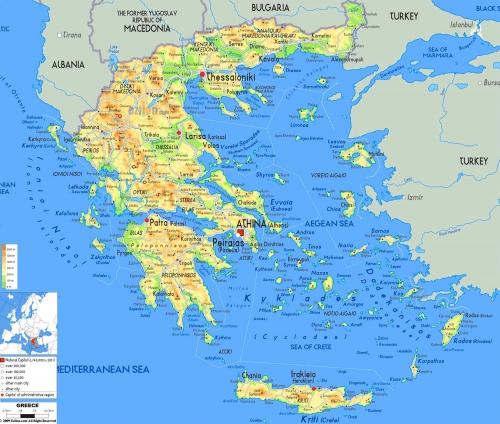 Карта Греції