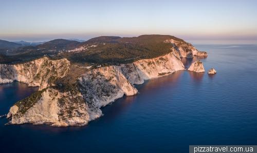 Keri Rocks. Sunset on Zakynthos