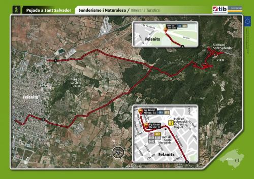 Карта пешеходного маршрута к монастырю Сан Сальвадор