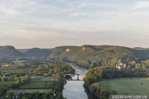 View of the Dordogne River and Castelnau Castle