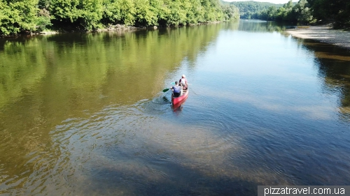 Сплав на реке Дордонь
