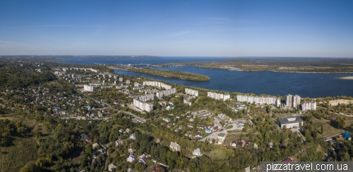 Kaniv view from above