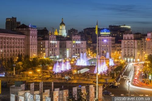 Киевские фонтаны на Майдане