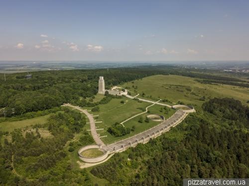 Меморіал Бухенвальда з висоти