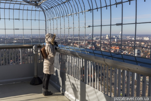 Observation point on the radio tower in Berlin
