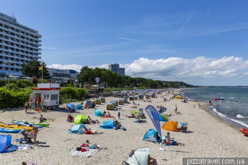 Пляж в Тиммендорфе (Timmendorfer Strand)