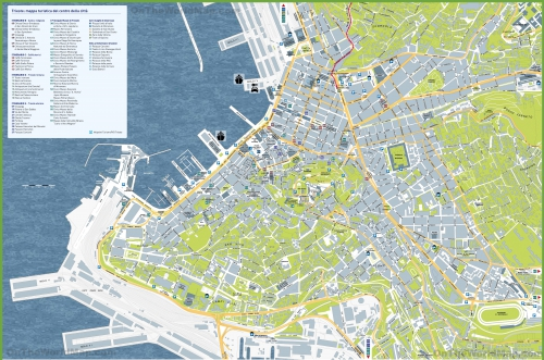 Touristic map of Trieste