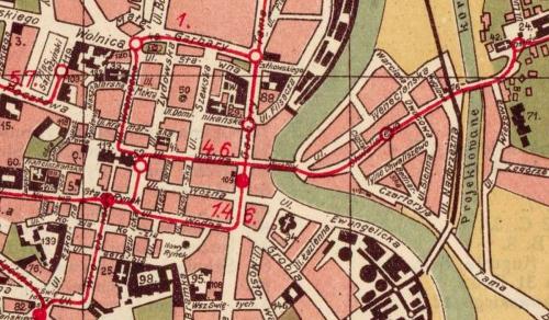 Map of Poznan (1924)