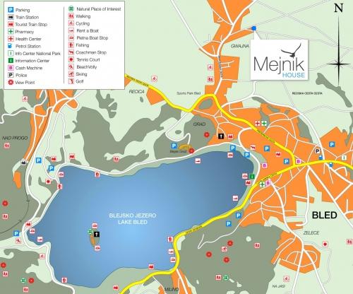 Туристична карта Озера Блед