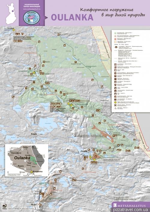 Карта национального парка Оуланка