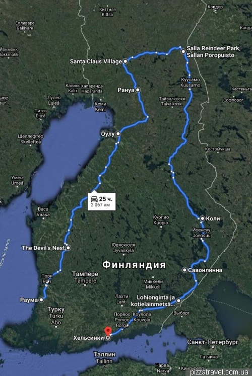 Our route in Finland