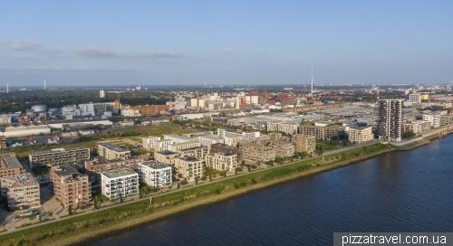 Новый район Uberseestadt в Бремене