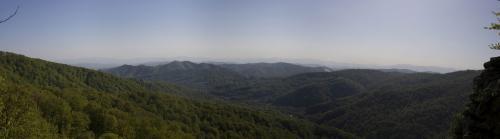 Вид со скалы Чур