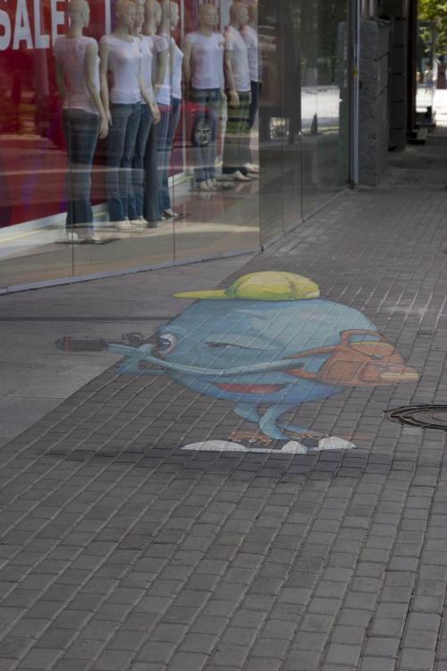 3D-рисунок приглашает во двор.