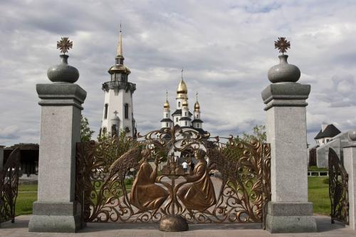 Church complex gate