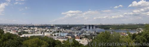 View from observation deck near the Andriyivska (St. Andrew's) Church