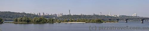 Panorama of the right-bank Kyiv