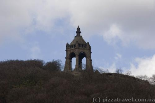 Monument to Kaiser Wilhelm I in Porta Westfalica